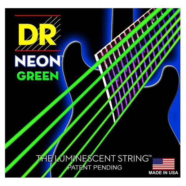 DR Handmade Strings DR Strings NGE-10 Med Hi-Def NEON GREEN: Coated Electric: 10, 13, 17, 26, 36, 46