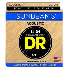 DR Handmade Strings DR Strings RCA-12 Light SUNBEAM Phosphor Bronze Acoustic: 12, 16, 24, 32, 42, 54