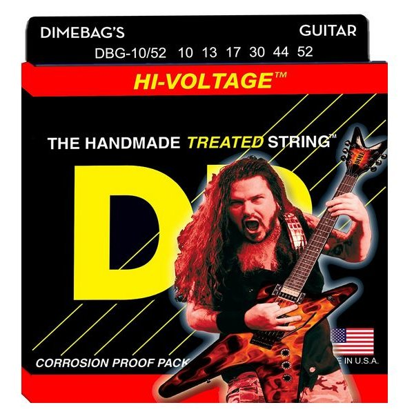 DR Handmade Strings DR Strings DBG-10/52 Big/Hvy Dimebag Darrell Nickel Pltd: 10, 13, 17, 30, 44, 52