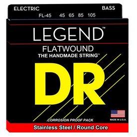 DR Handmade Strings DR Strings FL-45 Med Hi-BEAM FLATS Flatwound Stainless Steel: 45, 65, 85, 105
