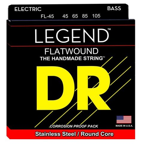 DR Strings FL-45 Med Hi-BEAM FLATS Flatwound Stainless Steel: 45, 65, 85, 105