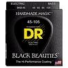 DR Strings BKB-45 Medium BLACK BEAUTIES  - BLACK Coated Bass: 45, 65, 85, 105