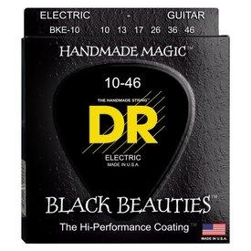 DR Handmade Strings DR Strings BKE-10 Med BLACK BEAUTIES Coated Electric: 10, 13, 17, 26, 36, 46