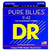 DR Strings PHR-9 Light PURE BLUES Pure Nickel Electric: 9, 11, 16, 24, 32, 42
