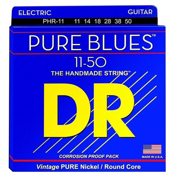 DR Handmade Strings DR Strings PHR-11 Heavy PURE BLUES Pure Nickel Electric: 11, 14, 18, 28, 38, 50