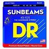 DR Strings NMR-45 Medium SUNBEAM  - Nickel Plated Bass: 45, 65, 85, 105