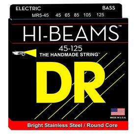 DR Handmade Strings DR Strings MR5-45 Medium 5's HI-BEAM  - Stainless Steel: 45, 65, 85, 105, 125