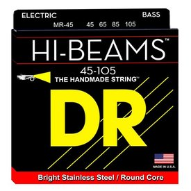 DR Handmade Strings DR Strings MR-45 Medium HI-BEAM  - Stainless Steel: 45, 65, 85, 105