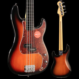 Squier Fender Vintage Modified Precision Bass Fretless, Ebonol Fingerboard, 3-Color Sunburst SN ICS18299747 8lbs 7.3oz