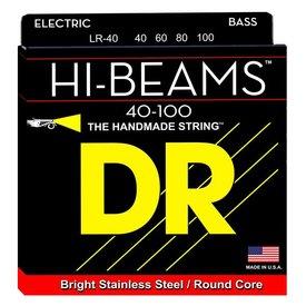 DR Handmade Strings DR Strings LR-40 Light HI-BEAM  - Stainless Steel: 40, 60, 80, 100