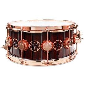 DW DROPSHIP DW Drum Workshop DREX6514SSP-TM Neil Peart Time Machine Exotic Snare Drum Copper Hardware