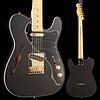 Fender Ltd. Ed. Deluxe Tele Thinline, Maple FB, Satin Black w/ Gold HW S/N MX18182538 6lbs 7.8oz