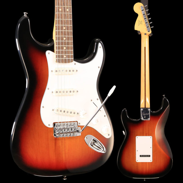 Squier Fender Vintage Modified Stratocaster, Laurel Fingerboard, 3-Color Sunburst S/N ICS18304346 7lbs, 13.5oz