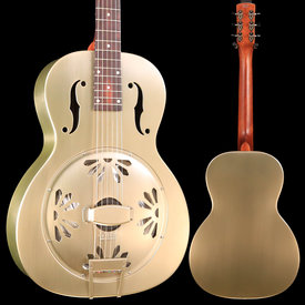 Gretsch Guitars G9201 Honey Dipper Round-Neck Guitar, Brass Body, Shed Roof Finish S/N CAXR191653 8lbs 13.4oz