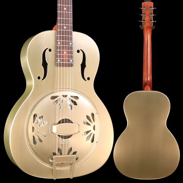 Gretsch Guitars G9201 Honey Dipper Round-Neck Guitar, Brass Body, Shed Roof Finish S/N CAXR191653 8lbs 13.4oz