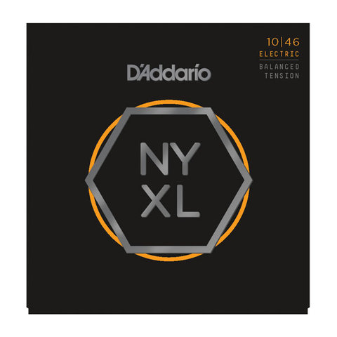D'Addario NYXL1046 Nickel Wound Electric Guitar Strings, Regular Light, 10-46 Balanced Tension