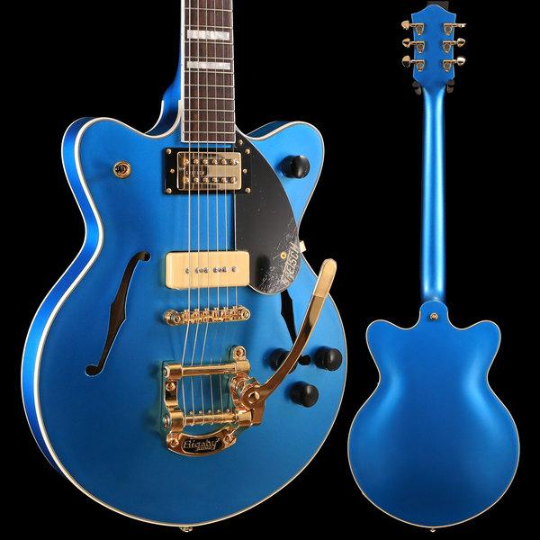 Gretsch Guitars Gretsch G2655TG-P90 LTD Streamliner Cntr Blk Jr Dbl Cutwy RW Fngrbd, Riviera Blue Satin SN/180606983