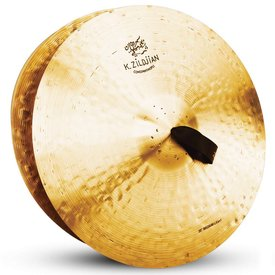 """Zildjian Zildjian K1008 20"""" Pair K Const. Orchestral Med. Light W/Pads"""