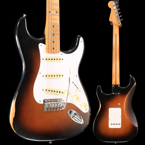 Road Worn '50s Stratocaster, Maple Fingerboard, 2-Color Sunburst S/N MX18176353, 7 lbs, 10.3 oz