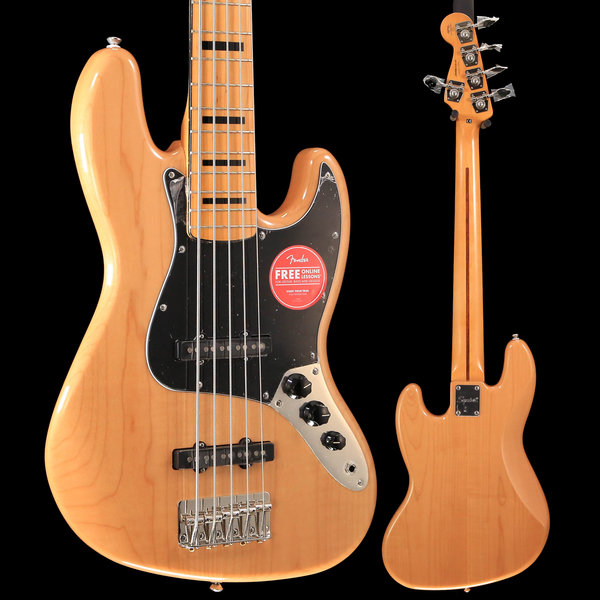 Squier Squier Classic Vibe '70s Jazz Bass V, Maple Fingerboard, Natural S/N ICS19042407, 10lbs 1.4oz