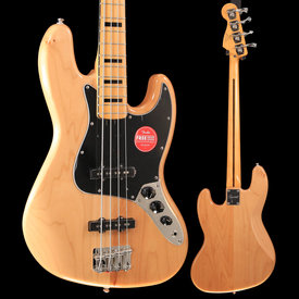 Squier Squier Classic Vibe '70s Jazz Bass, Maple Fingerboard, Natural S/N ICS19055003, 9lbs 12.7oz