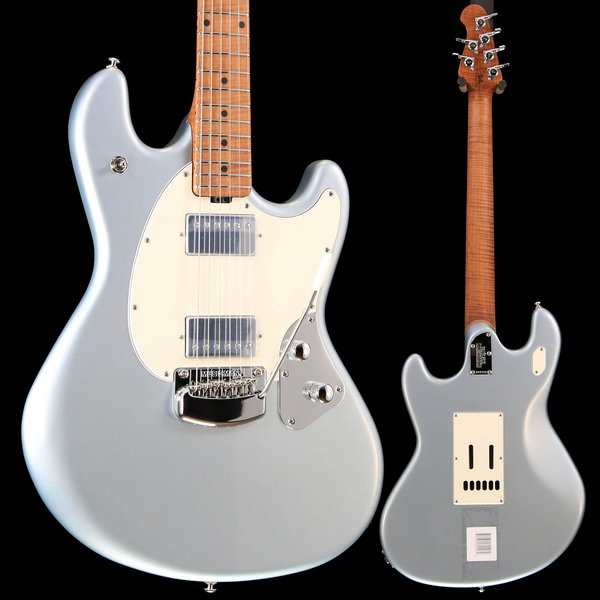Music Man Ernie Ball Music Man StingRay Guitar HH Trem Firemist Silver Fig Roasted Maple w/ Hard Case S/N G94930 7lbs 8.1oz