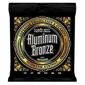 Ernie Ball 2564 Ernie Ball Aluminum Bronze Acoustic Strings .013-.056 Medium