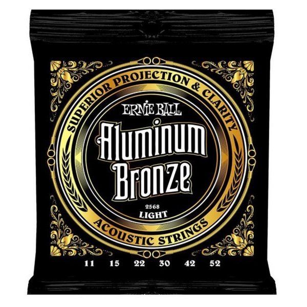 Ernie Ball 2568 Ernie Ball Aluminum Bronze Acoustic Strings .011-.052 Light