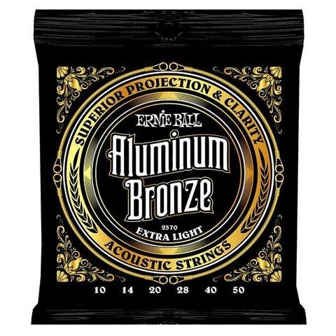 2570 Ernie Ball Aluminum Bronze Acoustic Strings .010-.050 Extra Light