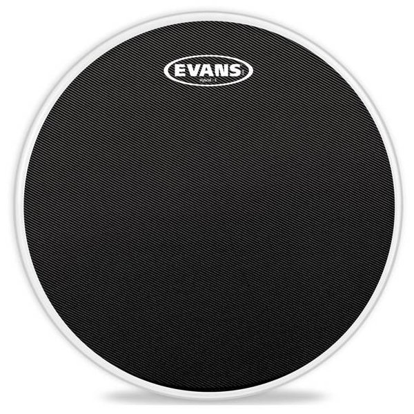Evans Evans Hybrid-S Black Marching Snare Drum Head, 13 Inch