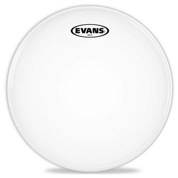 Evans Evans Hybrid White Marching Snare Drum Head, 14 Inch