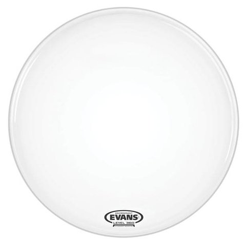 Evans EQ3 Resonant Smooth White Bass Drum Head, No Port, 22 Inch
