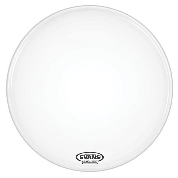 Evans Evans EQ3 Resonant Smooth White Bass Drum Head, No Port, 22 Inch