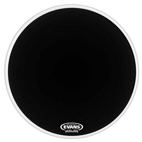 Evans EQ3 Resonant Black Bass Drum Head, No Port