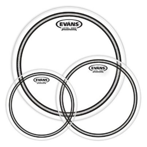 Evans EC2 Tompack, Clear, Standard (12 inch, 13 inch, 16 inch)