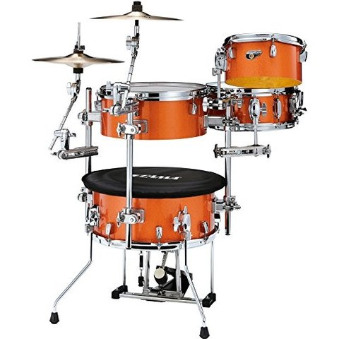TAMA Cocktail-JAM  4-piece shell pack w/ hardware Bright Orange Sparkle