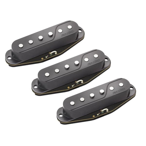 Fishman Fishman PRF-STR-BK3 Fluence Single Width Pickups for Strat, Set of 3, Black