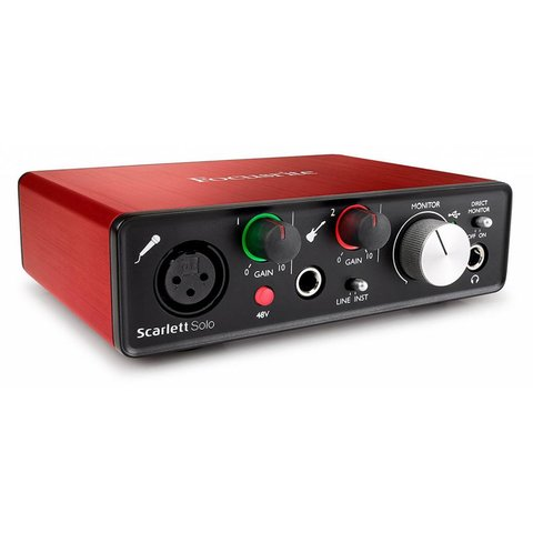 Focusrite Scarlett Solo 2nd Generation USB 2.0 Audio Interface 2-in / 2-out
