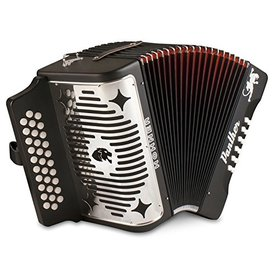Hohner Hohner 3100FBBEBBK Panther Diatonic Accordion - Keys of F, Bb, Eb