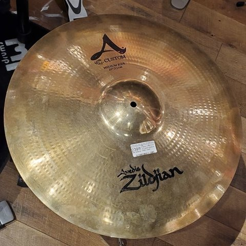 "Zildjian A20519 20"" A Custom Medium Ride - Used"