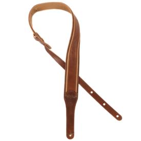 "Taylor Taylor K250-03 Spring Vine Strap, Dark Brown Leather, 2.5"" Butterscotch, Distressed"
