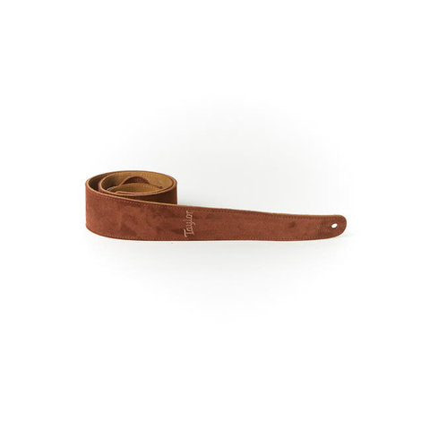 Taylor TS250-05 Strap, Embroidered Suede, Chocolate 2.5""