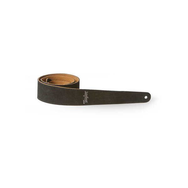 """Taylor Taylor TS250-06 Strap, Embroidered Suede, Black 2.5"""""""