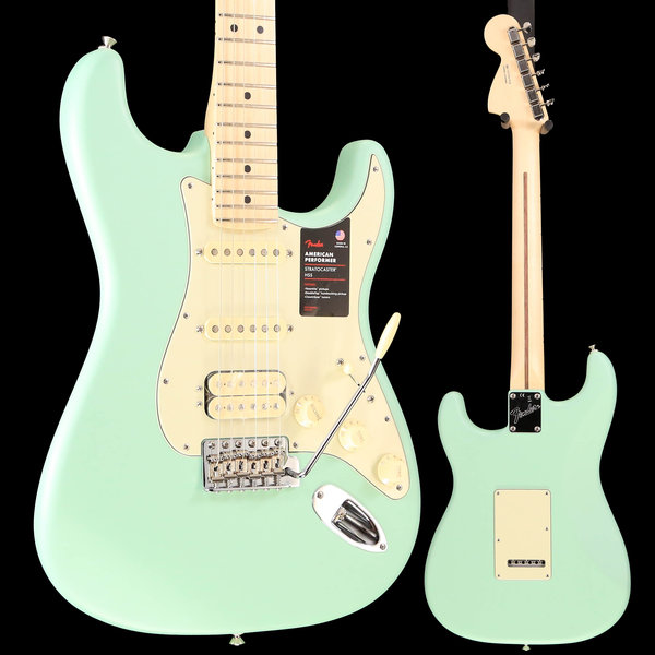 Fender Fender American Performer Strat HSS, Maple Fingerboard, Satin Surf Green S/N US19047928 7lbs 13.1oz