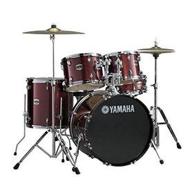 Yamaha Yamaha GM2F56WUBGG Gigmaker 5-pc w/ Hardware & Wuhan Cymbals Burgandy Glitter