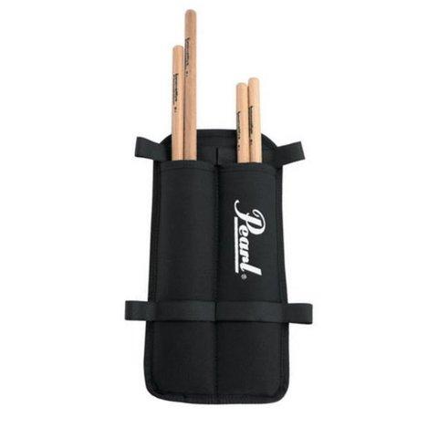 Pearl MSB2 Marching Stick Bag Black, Holds 2 Pr of Sticks