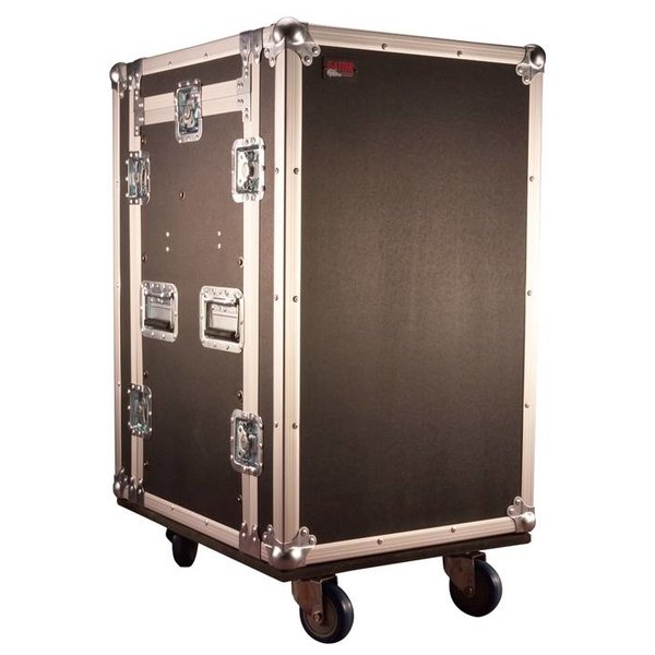 Gator Gator G-TOUR 10X14 PU 10U Top, 14U Side Audio Road Rack Case