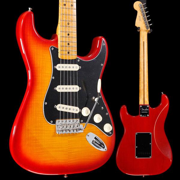Fender Rarities Flame Ash Top Stratocaster, Birdseye Maple Neck, Plasma Red Burst S/N US19036397 8lbs 2.7oz