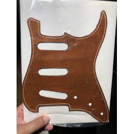 Brummetts Creek Leather BCL Leather Stratocaster Pickguard Brown