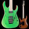 Ibanez RGR5220M Prestige 6str w Case, Trans Flrscnt Green 457 8lbs 2.9oz USED